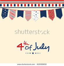 4th Of July Bunting Decorations Colorful Chain Garland Bunting Usa Flags Stock Vector 562634182
