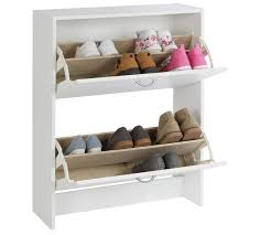 buy home 2 tier shoe cabinet white at argos co uk your online