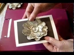 handmade card glittery newsprint flower book page flower diy