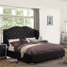 Upholstered Platform Bed King Living In Style King Arthur Upholstered Platform Bed Reviews