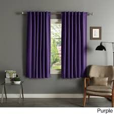 Blackout Purple Curtains Home Solid Insulated Thermal 63 Inch Blackout Curtain Panel