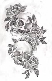girly skull and flower tattoos 1000 ideas about flower skull