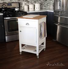small kitchen island prep cart with compost