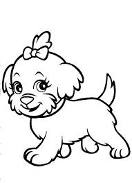 dog coloring pages with flower and butterfly coloringstar