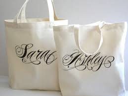 bridesmaids personalized tote bag of honor gift by paperflora