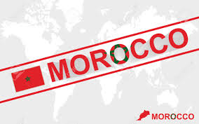 Morocco On World Map by Morocco Map Flag And Text Illustration On World Map Royalty Free