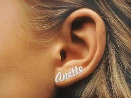 personalized name earrings name earrings 9ct gold personalized earrings gold name