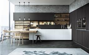 cuisine noir mat et bois cuisine mat et blanche 48 inspirations noir newsindo co