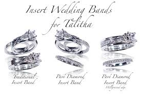 wedding ban celtic wedding rings talitha insert bands