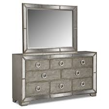Mirror Chest Of Drawers Angelina Dresser And Mirror Metallic Value City Furniture