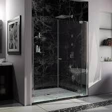 Oil Rubbed Bronze Frameless Shower Door by Dreamline Allure 60 61 In Width Frameless Pivot Shower Door 3 8
