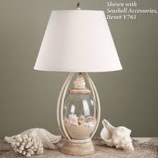 Nursery Table Lamps Sea Treasures Fillable Glass Table Lamp Glass Table Lamps Glass