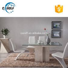 glass and travertine marble dining table designs glass and