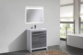 In Stock Bathroom Vanities 48 Gray Oak Wall Mount Single Sink Modern Bathroom Vanity In Stock