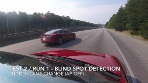 Car Blind Spot Detection Tesla Model S Collision Avoidance Systems Test The Good And Not