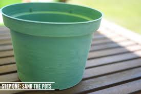 faux stone painted plastic flower pot tutorial recycle your