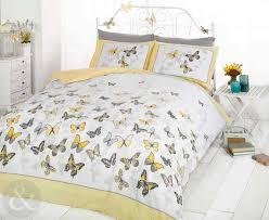 Grey And Yellow Duvet Bedding Set Grey Bedding Sets Double Letgo Gray Duvet Cover