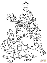 christmas tree with presents coloring pages eliolera com