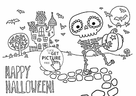 Printable Scary Halloween Coloring Pages by Printable Minecraft Skeleton Coloring Pages Cartoon Skeleton
