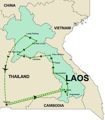 Mekong River Map 16 Day Vegan Adventure In Laos