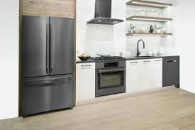 gray kitchen cabinets with black stainless steel appliances modern black appliances for your home hgtv