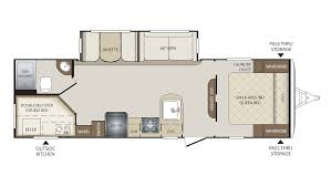Keystone Trailers Floor Plans by 2018 Keystone Bullet 277bhs Model