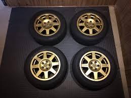 oz rally wheels fs 2 sets 5x100 gold wheels 15