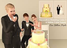 wedding cake sims 4 edible wedding cakes bonus one billion pixels