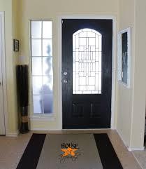 Front Door Interior Black Painted Front Door And It Wasn T An Epic Fail