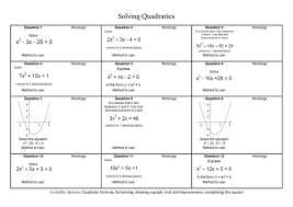 solving quadratic equations revision by caleech teaching