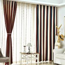White And Brown Curtains Brown White And Navy Blue Striped Jacuard Chenille Thermal