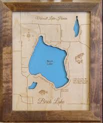Map Lake Michigan by Sanford Lake Michigan Laser Engraved Map