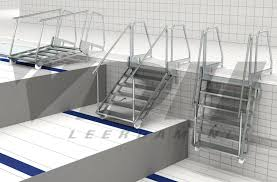 vdh hinged lazy pool steps for use with movable floor vdh leerdam