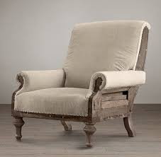 linen club chair amazing chair i the unfinished look of it and the wood
