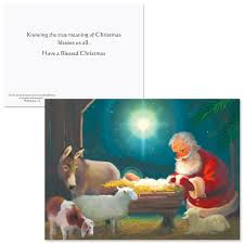 kneeling santa christmas cards current catalog