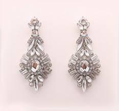 art deco wedding earrings chandelier earrings by annasinclair