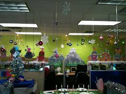 interior design simple xmas cubicle decoration theme design