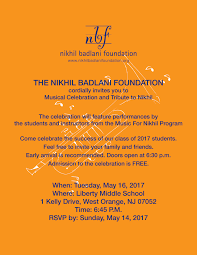 musical celebration and tribute to nikhil 2017 tickets tue may 16