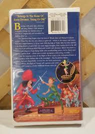 Peter Pan S Home by Walt Disney U0027s Masterpiece Peter Pan Vhs Cassette U2013 My Web Yard Sale