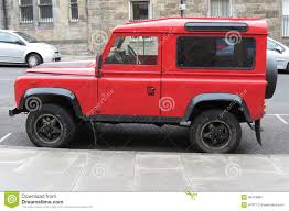 land rover red red land rover defender 110 editorial photo image 58476881