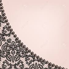 Wedding Invitation Greeting Cards Wedding Invitation Or Greeting Card With Black Lace Background