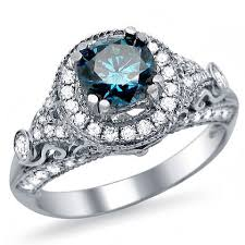 blue and white engagement rings blue engagement ring diamonds white gold and