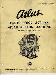 atlas milling machine belt mechanical