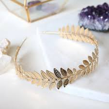 gold headband gold leaf headband