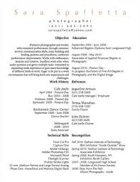Photography Resume Sample by Tips To Design Photographer Resume