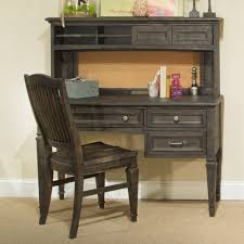 calistoga youth wood desk hutch only in weathered charcoal