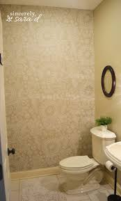 ideas for painting bathroom walls starched fabric wall hometalk