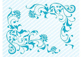 floral corner ornaments free vector stock graphics
