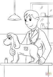 veterinarian coloring page free printable coloring pages