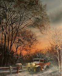 tree delivery painting by tom shropshire